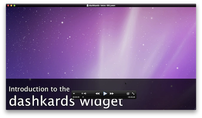 Introduction to the dashkards widget